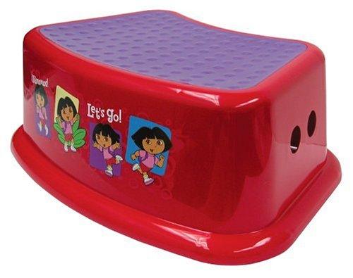 Nickelodeon Dora the Explorer Step Stool - Red - 1