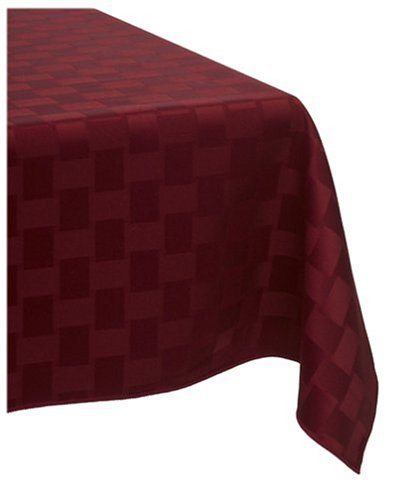 Reflections 52 by 52-Inch Square Tablecloth, Merlot