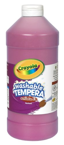 Crayola Tempera Washable Paint 32-Ounce Plastic Squeeze Bottle, Magenta front-1067350