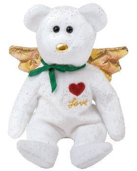 1 X Ty Beanie Baby - Gift the Bear Love (White Version) (Hallmark Gold Crown Ex...