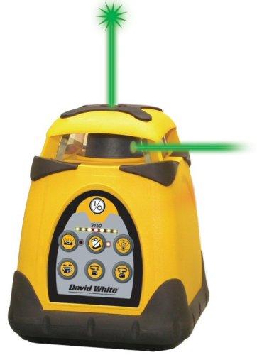 David White 48-3150G-I Horizontal/Vertical Green Split Beam Electronic Self-Leveling Rotary Laser