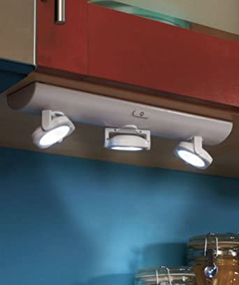 Under cabinet over counter swivel led battery operated - Battery operated kitchen cabinet lights ...