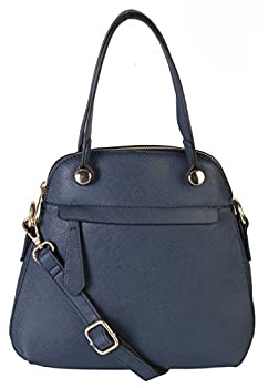 Rimen& Co. Satchel Shoulder Removable Adjustable Shoulder Strap Purse Bag Women Woman Ladies Handbag with Top Handle HQ-2688
