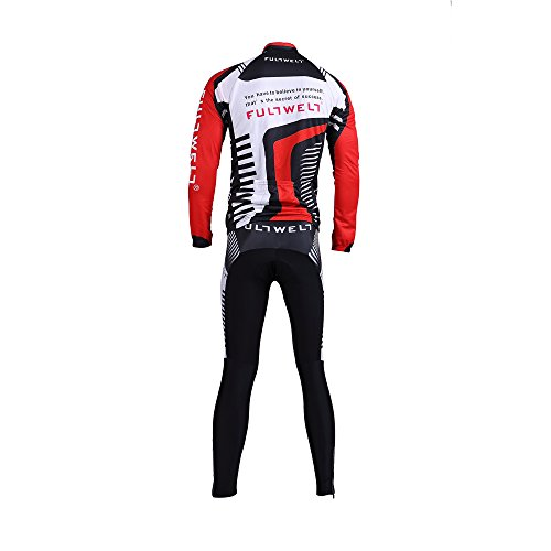 Anself Abbigliamento Ciclismo Set Abbigliamento sportivo per bicicletta Outdoor Maglia manica lunga Pantaloni lunghi da uomo traspirante