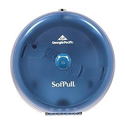Georgia-Pacific SofPull 56500 Splash Blue High-Capacity Centerpull Bathroom Tissue Dispenser