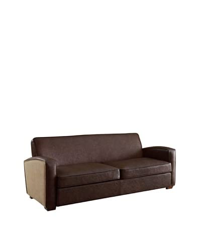 Armen Living Antique Sofa, Brown As You See