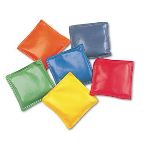 Champion Sports Bean Bag Set, Vinyl, 4amp;quot;, Assorted Colors, Six per Set