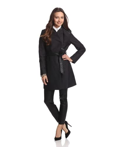 French Connection Women's Inverted Collar Trench