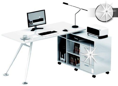 Variante ceppo scrivania CT-3366AM Hochglanz Weiß