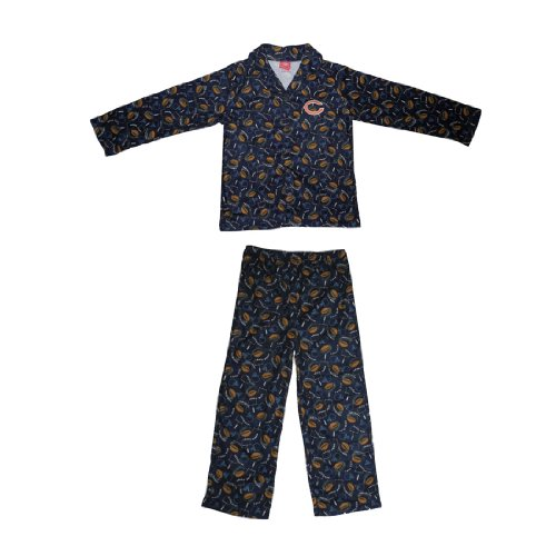 2 PCS SET: NFL Chicago Bears Boys Or Girls Fleece Sleepwear Pajama Top & Pants Set