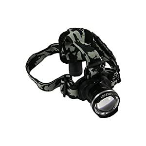 LED Headlamp-rechargeable Waterproof Flashlight with BRC 18650 Battery Included-lightweight Sturdy and Versatile-super Bright Adjustable Zoom Lens and Dimming Switch-best Light for Running Camping and Home Improvement-turboflash 1 Year Guarantee