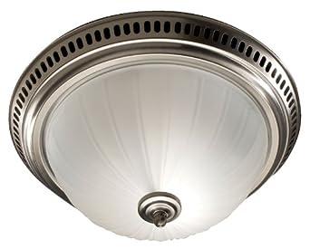Nutone 741snnt Decorative Bath Fan With Light Satin Nickel Glass Globe 70 Cfm