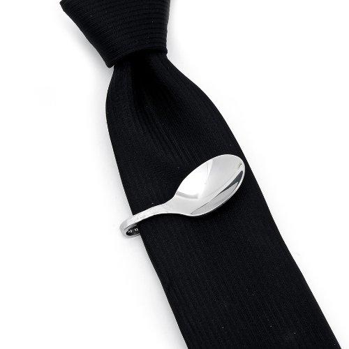 Stainless Steel Pebble Spoon Tie Bar