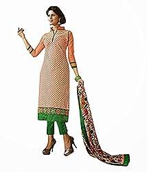 Red Color Cotton Unstitched Salwar Kameez Embroidered Dress Material