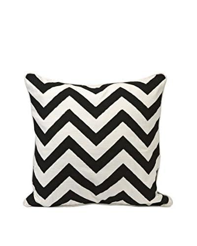Embroidered Chevron Throw Pillow