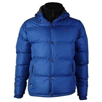 Kangol Men's Jacket Padded Hooded Fleece Line Bubble
