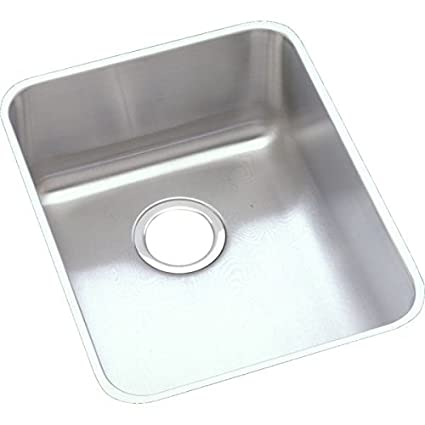 Elkay ELUHAD141855 Gourmet Kitchen Sink Lustrous Satin Stainless Steel Undermount