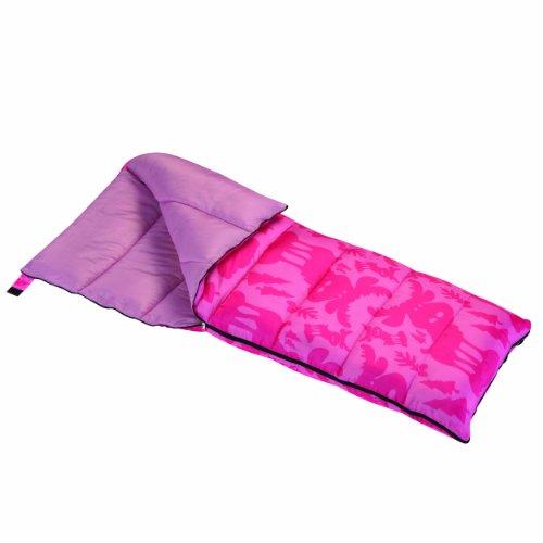 Wenzel Moose Girls 40-Degree Sleeping Bag, Pink