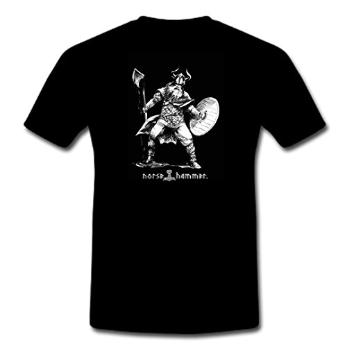 "T-Shirt ""Viking Axe combattente"" S-XXL nero XL"