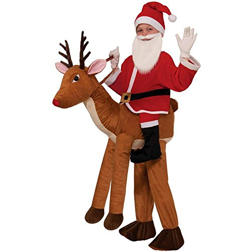 Santa Ride-A-Reindeer Kids Costume - Up to Size 10