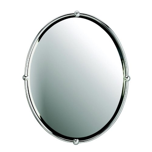 Kichler Lighting 41006CH Oval Beveled Mirror with Ball Accents, Chrome