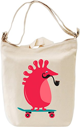 Germ on a skateboard Borsa Giornaliera Canvas Canvas Day Bag  100% Premium Cotton Canvas  DTG Printing 