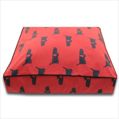 Large Rectangle Dog Bed in Funky Mutt