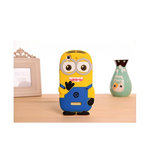 Heartly Cute Cartoon Minion Soft Rubber Silicone Flip Bumper Best Back Case Cover For Micromax Yu Yureka Cyanogenmod Double Eye