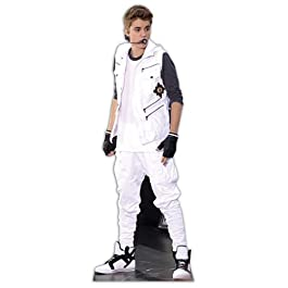 Justin Bieber - Lifesize Cut-Out White Tracksuit (in 170 cm)