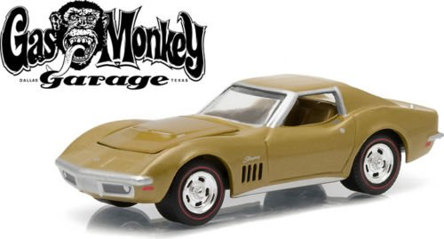 New 1:64 Hollywood Series 12 Collection - GAS MONKEY GARAGE - GOLD 1969 CHEVROLET CORVETTE Diecast Model Car By Greenlight (Chevrolet Corvette Model compare prices)