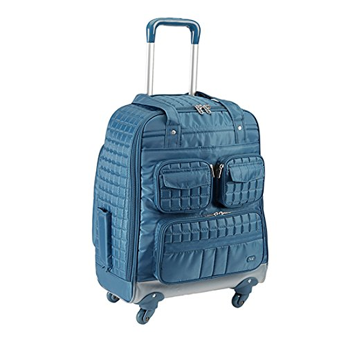 Lug Puddle Jumper Overnight Gym Bag with Wheels, Ocean Blue, One Size
