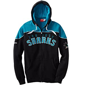 NHL San Jose Sharks Score NHL Full Zip Hoodie