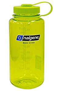 Nalgene BPA Free Tritan Wide Mouth Water Bottle, 1-Quart, Spring Green