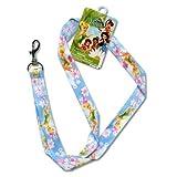 Disney Tinkerbell Fairy Flowers Lanyard Keys Badge Holder-Blue