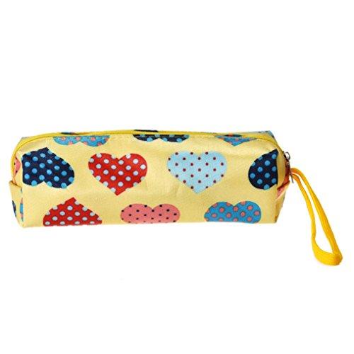 Cosmetic Bag, FEITONG Cuore Piazza multicolore sacchetto di trucco