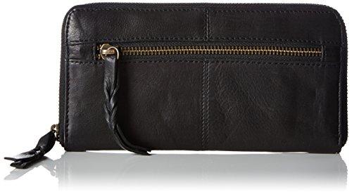 PIECES Pcrea Leather Purse, Portafoglio donna, Nero (Schwarz (Black Black)), 19x9x2 cm (B x H x T)