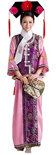 Chinese Qing Dynasty Gege's Costumes Dress Women's&Girl's Halloween Cosplay
