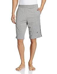 Jockey Men's Cotton Shorts (8901326123492_9426_Small_Grey Melange and Navy)