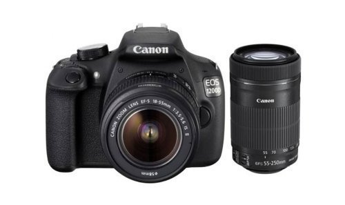 Get Clicking This Season!!pto 35% Or More off On Camera`s, Tips & More By Amazon | Canon EOS 1200D 18MP Digital SLR Camera (Black) with 18-55mm and 55-250mm IS II Lens,8GB card and Carry Bag @ Rs.26,999