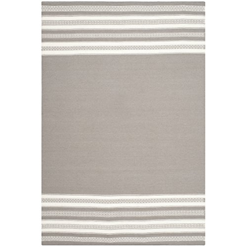 Safavieh Dhurries Collection DHU601A Hand Woven Light Brown Wool Area Rug, 6 feet by 9 feet (6' x 9')