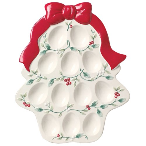 Pfaltzgraff Winterberry Sculpted Egg Tray