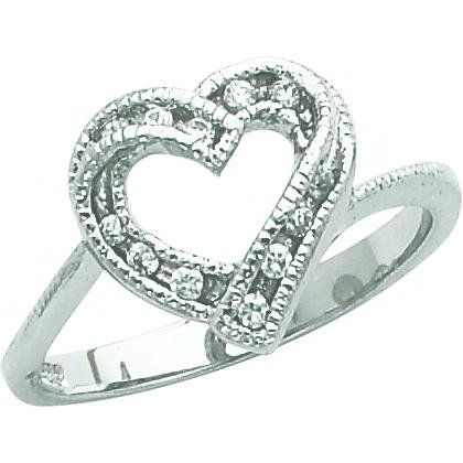 Sterling Silver Cubic Zirconia Promise Ring Sz 6