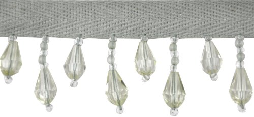 Belagio Acyrlic Beaded Trim, 15-Yard, Light Mint Green