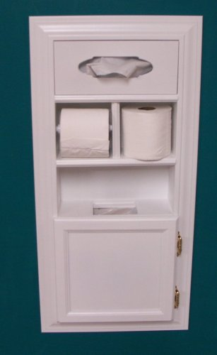 Mpu 1 Recessed Solid Wood Bathroom In The Wall Trash Can