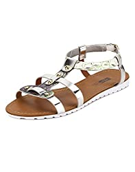 Yepme Green & Silver Sandals -- YPWFOOT9415_8