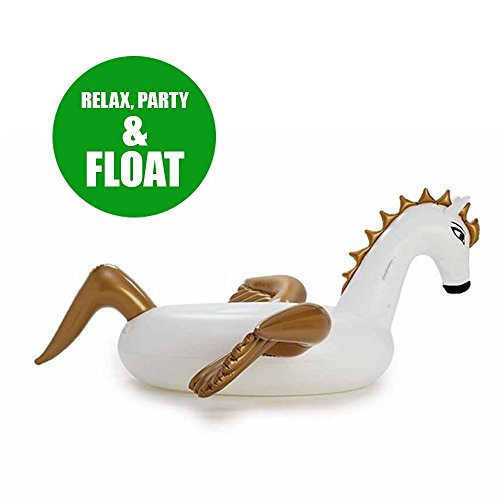 Giant Inflatable Pegasus Pool Floats Ride On 95 inch/8 feet/250cm Outdoor Swimming Pool Rafts Floatie Lounge For Adults & Kids Party Chair Floaty Relaxing Swim Rings Cool Grown Up Pool Toys