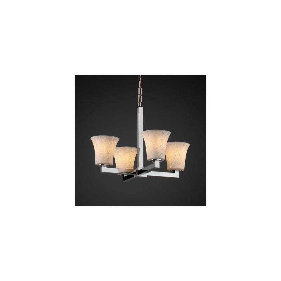 Justice Design Group POR 8829 20 BANL CROM Limoges 4 Light Chandeliers