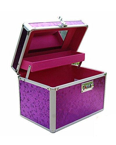 DAYAN Borsa professionale Beauty Case Organizzatore Manicure Storage Box Lady Trucco Viola