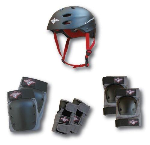 Kryptonics-Mens-Kore-Series-4-in-One-Multi-Sport-Helmet-and-Pads-Combo