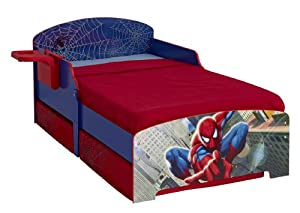 Spiderman Toddler Bed With Underbed Storage And Bedside